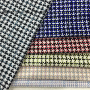 Little Houndstooth Check Wool Fabric for Overcoat pictures & photos
