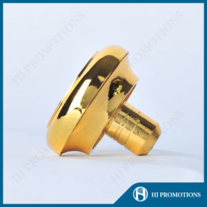 Gold Plating Metal Cap with Cork (HJ-MCJM06) pictures & photos
