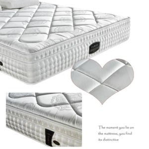 Luxury Hotel Poly Jacquard Fabric Pocket Spring Mattress pictures & photos