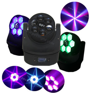 6*15W LED RGBW 4in1 Mini Moving Head Stage Light pictures & photos