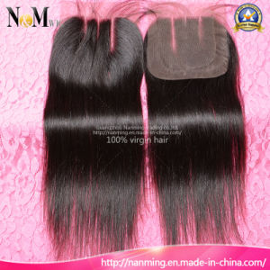 Natural Color (Natural Black) Can Be Dye or Be Bleached 7A Brazilian Lace Closure pictures & photos