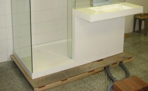 Acrylic Solid Surface Sanitary Ware Shower Base pictures & photos