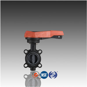 DIN ASTM JIS Handled CPVC Butterfly Valve for Chemical Industry pictures & photos