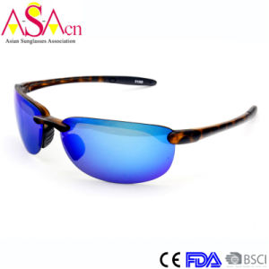 High Quality Men Sport Mirror Tr90 Sunglasses with UV Protection (91065)