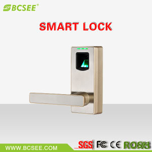 Bluetooth Connection Keyless Handle Fingerprint Door Lock