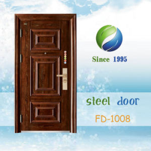 China Newest Develop and Design Single Exterior Door (FD-1008) pictures & photos