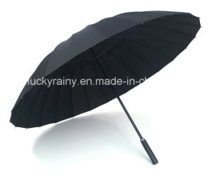 24k Straight Umbrella Manaual Open Strong Quality Promotion