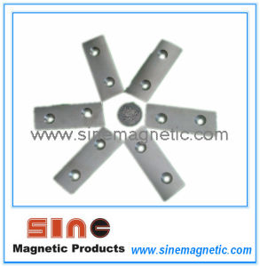 Customized Two Hole Countersunk Holes NdFeB Magnet pictures & photos