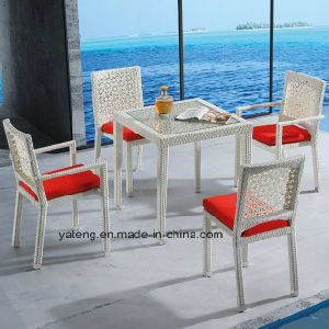 Top Quality Modern Designer Rattan Outdoor Garden Rattan Furniture Dining  Table Set For Restaurant U0026 Hotel