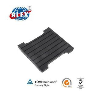 Rail Solid Grooved Rubber Pad