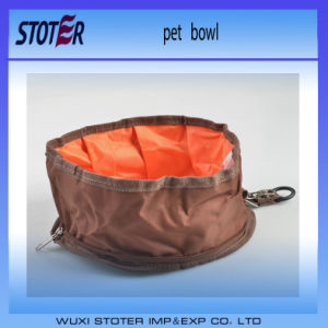 Two Colours for Choice Portable Wholesale Folding Travelling Dog Bowl