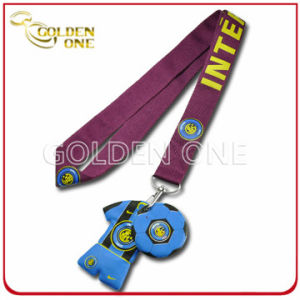 Heat Transfer Printing Lanyard Strap with Custom PVC Charms pictures & photos