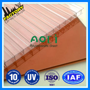 Zhejiang Aoci Twin Wall PC Hollow Sheet for The Highway Barrier pictures & photos