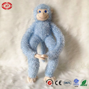 Sitting Blue Arrogant Soft Plush Quality En71 Monkey Toy pictures & photos