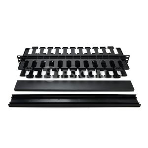 "1u 19"" Plastic Dual-Sided Rack Mount Horizontal Cable Manager pictures & photos"
