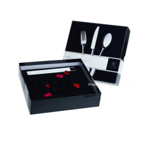 Luxury Matte Black Cardboard Paper Tableware Boxes