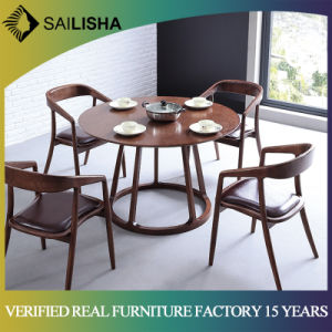 Nordic Home Furniture Simple Style Solid Wood Round Dining Table