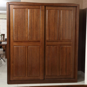 Bedroom Cabinet Solid Walnut Wooden Wardrobe (GSP9-021) pictures & photos