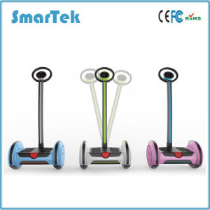 Smartek 14 Inch Two Wheel Electric Standing up Scooter Patineta Segboard Seg Way Gyropode Hoverboard Gyro Gyroscope with Handle Bar Scooter Giroscooter S-015 pictures & photos