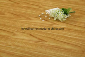 Big U Groove Mould Pressed High Glossy Surface Laminate Flooring pictures & photos