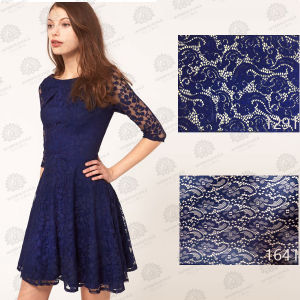 2016 New Design Blue Colorlace Fabric
