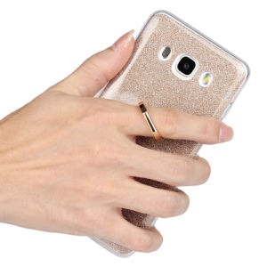 Glitter Powder Paper Clear TPU Ring Buckles Case for Samsung pictures & photos