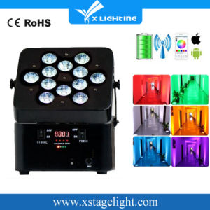 High Quality 12PCS*18W 6in1 Rgbaw UV Battery Powered Wireless Battery PAR Light for Disco pictures & photos