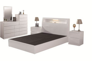 China Master Design Fancy White Bedroom Furniture Sets For Adults