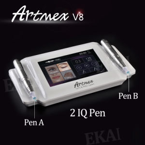 2 Handpieces Digital Permanent Make up Machine Eyebrow Kit Tattoo Machine