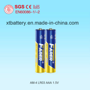 1.5V Farer Super Alkaline Dry Battery (LR03 AAA, Am-4) for Electronic Products pictures & photos