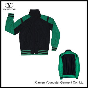 Green Black Microfiber Sports Sporty Jacket pictures & photos