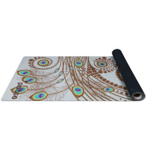 Anti-Slip Suede Yoga Mat Pilates Natural Tree Rubber Yoga Mat