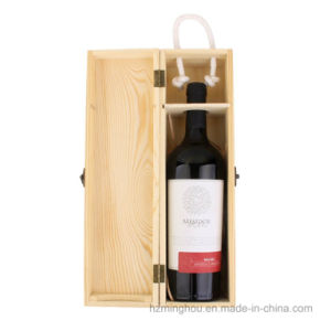 Carrier Crate Case Single Bottle Wine Box for Gift Decor