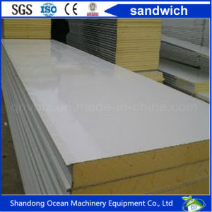 Clean Room Sandwich Wall Panel of EPS/Rock Wool/Glass Wool/Polyurethane (PU) Used on Pharmaceutical Foodstuff Refrigeration House pictures & photos