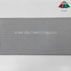 32mm and 38mm Silver Gray Small Wave and Microgroove Weave Nylon Webbing for Backpack pictures & photos