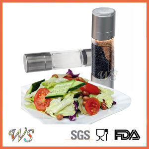 Ws-Pg020 2 in 1 Manual Salt and Pepper Grinder with Adjustable Ceramic Grinding