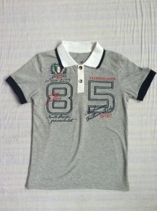 Tc Polo Shirt for Children Wear in Short Sleeve Sq-6255