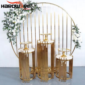 China Wedding Event Furniture Hollow Design Carved Wholesale Flower Stands For Weddings Table And Wooden Dining Set Price