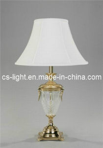 High-End Decoration Brass Glass Table Lamp