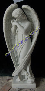 Marble Granite Angel Statue for Cemetery Tombstone Monument Headstone (SY-X1539) pictures & photos