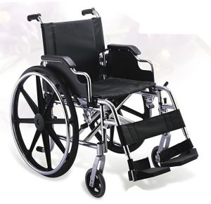 Aluminum Manual Folding Wheelchair with Detachabe Armrest and Footrest pictures & photos