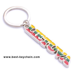 Custom Metal Lietuva Souvenir Poland Letter Shape Key Holder (BK11658) pictures & photos