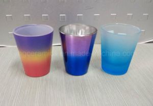 Rainbow Color Shot Glass, Spray Color Shot Glass