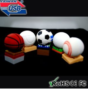 Football USB Flash Memory Stick (USB-RA238)