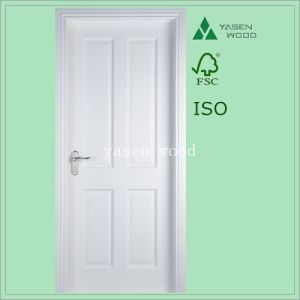 China 4 Panel White Primed Paint Wooden Door - China Wood Door ... on