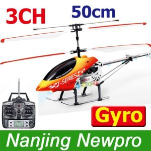 50cm 3-Channels RC Helicopter With LCD Screen Controller+Gyroscope+Metal Airframe+Flashlights (NNG045(T))