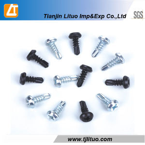 Black/Galvanized Carbon Steel Pan Framing Head Self Drilling Screw pictures & photos
