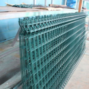 china galvanized grid fence panel welded metal fence with bends