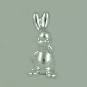 Electroplated Ceramic Craft, Ceramic Bunny for Easter Decoration pictures & photos