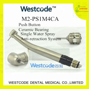 M2-PS1m4ca/Push Button High Speed Dental Handpiece with Coupling (Anti-suction)